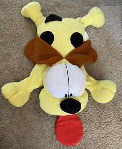 "Huge Vintage 1990's Garfield Odie Dog Plush Pillow 38"" Rare"