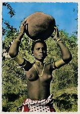 East Africa FRAU m KALEBASSE Giriama WOMAN w GOURD Kenya * 60s Ethnic Nude PC