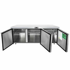 New 3 Door 72 Undercounter Refrigerator Stainless Steel Atosa Mgf8404gr 2217