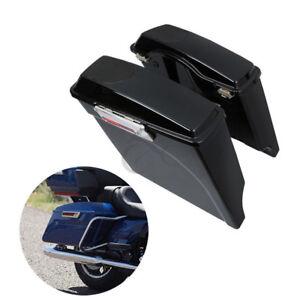 """5"""" Stretched Saddlebag Speaker Lids Fit For Harley Touring Electra Glide 93-13"""