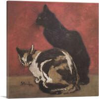 ARTCANVAS Cats 1910 Canvas Art Print by Theophile Steinlen