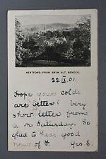 R&L Postcard: Hertford from Bryn Alt Bengeo, Early Card 1901 PU Bisham Lodge