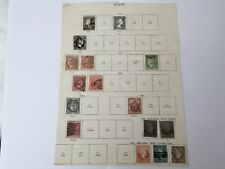 old stamps  SPAIN  hinged on page