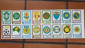 16 Stickers Panini World Cup Coupe du Monde Football München 74 Munich 1974