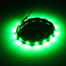 2x Green 12 LED IP65 Waterproof Flexible Strip Lights Car Home 30cm Custom Mod