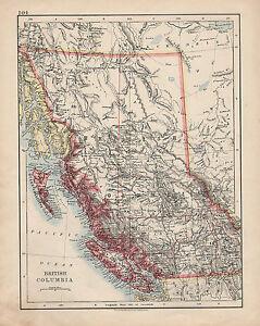 1909 MAP ~ BRITISH COLUMBIA