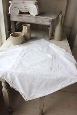 RR Lace antique Euro sham pillow case white cotton linen French c1900 Eurosham