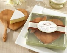 Tastefully Yours Heart Bamboo Cheese Board Bridal Shower Wedding Favor