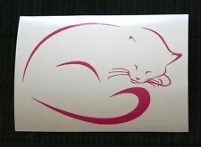 adesivo GATTO gattino wall sticker decal vynil vinile cat auto moto kitty sweet