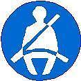 63.5x5.1cm Ceinture de sécurité peut-être porté autocollant vinyle plaque