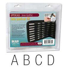 Arial/Gothic Upper Case Letter Stamp Set 3.0mm 27pcs
