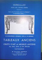 1970 Catálogo De Venta Versailles Pizarras Antiguos Artículo D Art Xvii XIX