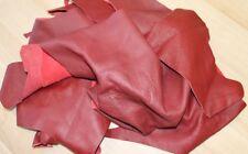 Lederreste - 3 KG - rot - handgroß bis größer