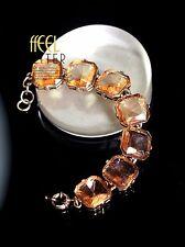Bracelet Doré Carré Ambré Retro Vintage Style Moderne Original Mariage CT2