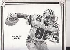 MICHAEL IRVIN 1994 SPORTRAIT BY FRANK NAREAU #69/1000