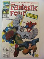 Fantastic Four #348 Marvel Hulk Wolverine Spider-Man Ghost Rider app 9.4 NM