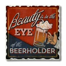 Single Absorbent Stone Coaster Beauty is in the Eye of the Beerholder