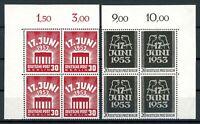 Berlin 4er Bl. Eckrand ol MiNr. 110-11 postfrisch MNH (L001