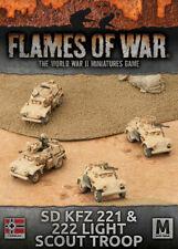 Flames of War GBX92 - Afrika Korps Sd Kfz 221/222 Light Scout Troop (x4)