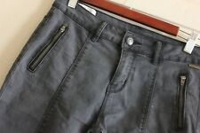 Lee Cooper Factory Faded Grey Skinny Leg Stretchy Jeans Size 8 Ankle Biter Short