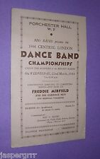 1944 MELODY MAKER DANCE BAND CHAMPIONSHIPS PROGRAMME. JAZZ SWING. WW2 HOME FRONT