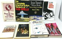 8 Book Lot: THE GRANDFATHERS OF SCIENCE FICTION Early SciFi Ancestors of Sci Fi