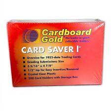 200 New CBG Card Saver 1 Semi Rigid For Graded Submissions