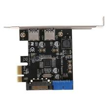 U3V14S PCI-E Transfer 2 USB3.0 Expansion Card Desktop Front 19PIN Interface