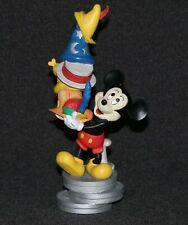 """New listing Mickey Mouse 65th Anniversary Statue With Character Hats 7 1/4"""""""