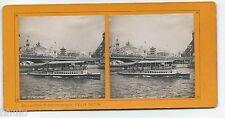 Stc495 expo paris 1900 le pont d' Iéna stereoview photo stereo vintage