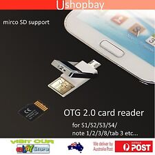 OTG Adapter For Samsung Galaxy S3 HTC 2 In 1 Micro USB MicroSD TF Card Reader