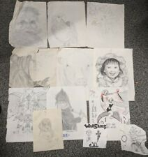 Lot of Pencil Drawings Anime, Goth, and other Subject matters Artist Unkown