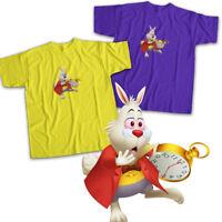 White Rabbit Alice in Wonderland Disney Cute Mens Womens Kids Unisex Tee T-Shirt