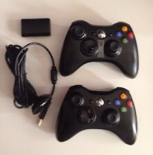 Lot of TWO 2 Official  OEM Microsoft XBOX 360 Wireless Controllers New & Used