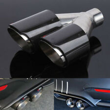 63mm Real Carbon Fiber Dual Pipe Exhaust exhaust tail muffler tip Right Durable