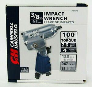 "3/8"" IMPACT WRENCH NIB CAMPBELL HAUSFELD 1/4""NPT 100 Ft. Lbs. Torque Compact Siz"