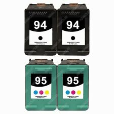 4-PACK Black/Color Ink Cartridges for HP OfficeJet 100 Mobile - L411a Printer