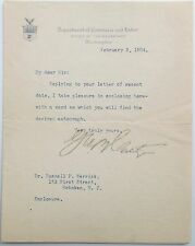 George B. Cortelyou Teddy Roosevelt Cabinet Member Statesman Autograph Letter