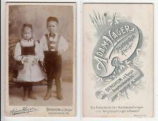 Bensheim Bergstraße,Kinder in ortstypischer Tracht, Kabinettfoto um 1890