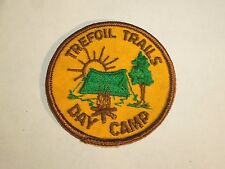 Vintage Trefoil Trails Day Camp Sew In Patch -Girl Scout Florida Camp