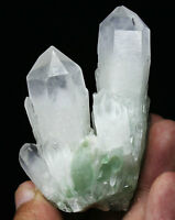 100g Rare NATURAL Green Ghost Quartz Crystal Cluster Specimen