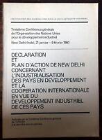 DECLARATION ET PLAN D'ACTION DE NEW DELHI CONCERNANT L'INDUSTRIALISATION DES PAY