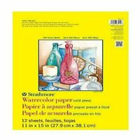 STRATHMORE / PACON PAPERS 36011 WATERCOLOR COLD PRESS SPIRAL 140LB 12 SHEETS ...