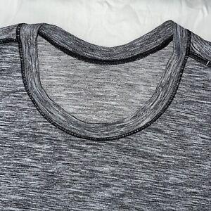 Lululemon LARGE HEATHERED GRAY Metal Vent Performance SHORT SLEEVE Shirt Mens