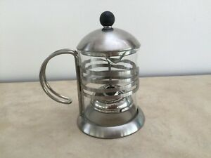 The Palm House Teapot with Infuser, Stainless Steel Holder with Glass Insert