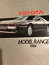 TOYOTA MODEL RANGE 1986 BROCHURE