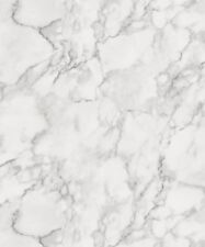 Flat Faux Marble Effect. Fine Decor Marblesque Plain White Wallpaper FD42274