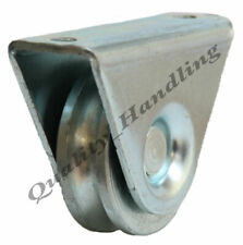50mm Gate wheel, pulley wheel in bracket, Round groove guide wheel, steel wheels