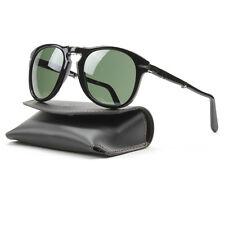 Persol 714 Folding Sunglasses 95/31 Black, Grey Crystal Lens PO0714 54mm NEW