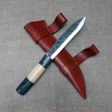 Saxmesser 36cm Griff aus Kamelknochen und Schwarzholz Wikinger-Messer Sax NEU
